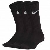 Meia Nike Infantil Cano Alto Preta - 3 pares 34 a 38