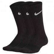 Meia Nike Infantil Cano Alto Preta - 3 pares 29 a 34