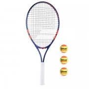Raquete de Tênis Babolat Nadal Jr 25 Roland Garros - Infantil + Bolas