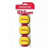 Tubo de Bola Wilson Starter Vermelha - 3Und