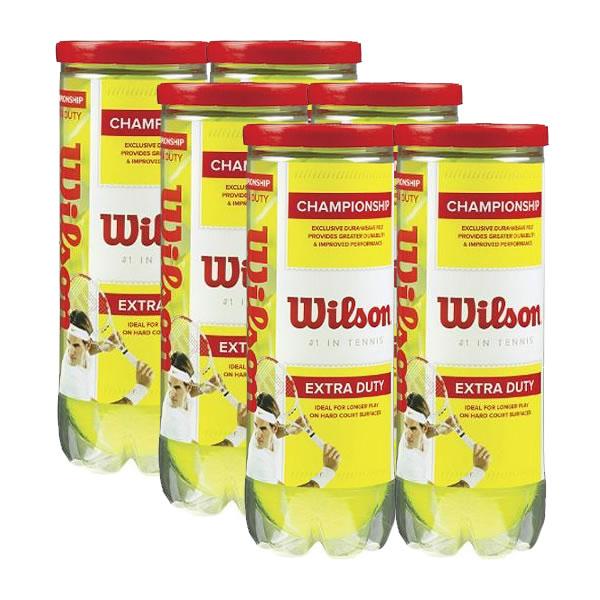 03e8662c6 Six Pack Bola Wilson Championship - 3Und - Oficina do Tenista
