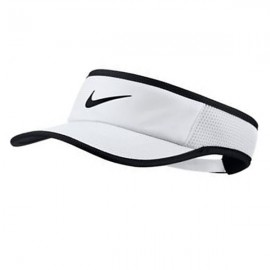 Viseira Nike Aerobill Feather Light - Branca e Preta