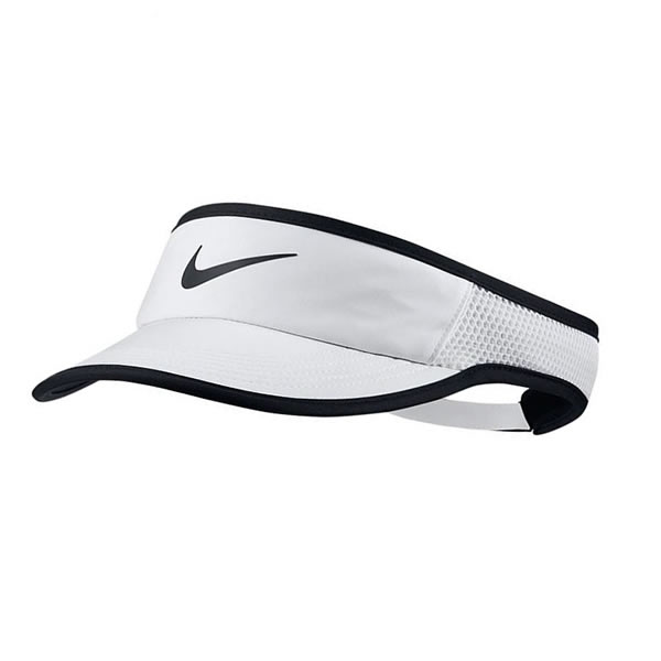 Viseira Nike Feminina Aerobil FeatherLight - Branca e Preta ... 721793d78aa