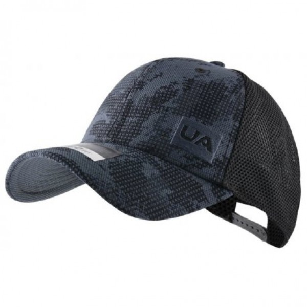 e5b696038c3e3 Boné Under Armour Trucker Blitzing - Preto e Cinza - Oficina do Tenista