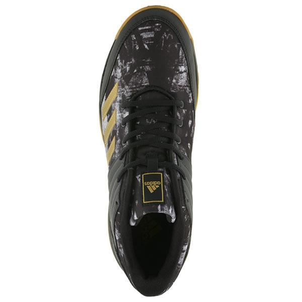 8b7f82ef3a Tênis Adidas Ligra 5 - Preto e Dourado - Oficina do Tenista
