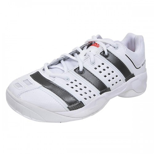 Tênis Adidas Court Stabil xJ - Branco e Rosa