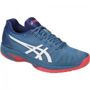 Tênis Asics Solution Speed FF  - Azul e Branco