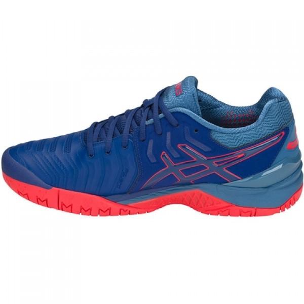 Tênis Asics Gel Resolution 7 - Azul e Vermelho - Oficina do Tenista fd7dfa5ae82d6