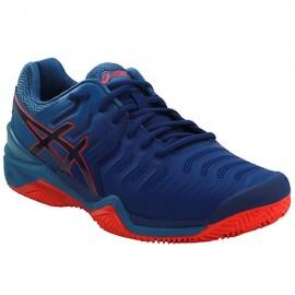 Tênis Asics Gel Resolution 7 Clay  - Azul e Vermelho