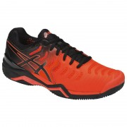 Tênis Asics Gel Resolution 7 Clay - Laranja e Preto