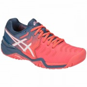 Tênis Asics Gel Resolution 7  - Coral