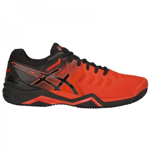 25b66f19a6 Tênis Asics Gel Resolution 7 Clay - Laranja e Preto - Oficina do Tenista