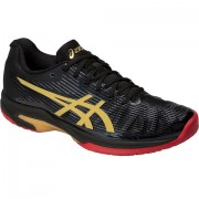 Tênis Asics Solution Speed FF  - Preto e Dourado