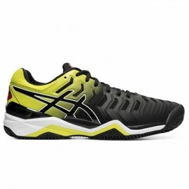 Tênis Asics Gel Resolution 7 Clay - Preto e Amarelo