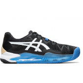 Tênis Asics Gel Resolution 8 Clay - Preto e Azul