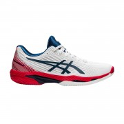 Tênis Asics Solution Speed FF 2 Clay - Branco e Mako Azul
