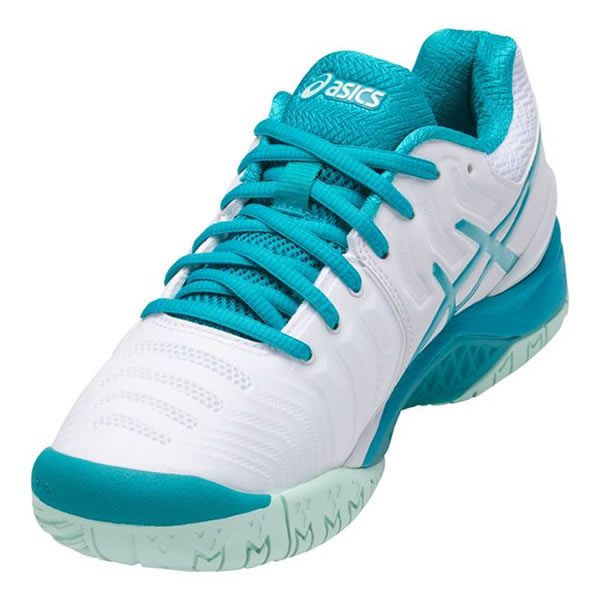 2f7c2b3d561 Tênis Asics Gel Resolution 7 - Branco e Verde - Oficina do Tenista