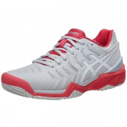 Tênis Asics Gel Resolution 7 Clay - Cinza e Rosa