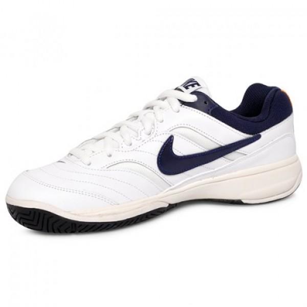 Tênis Nike Court Lite - Branco e Marinho - Oficina do Tenista 5dffecef0fe2f