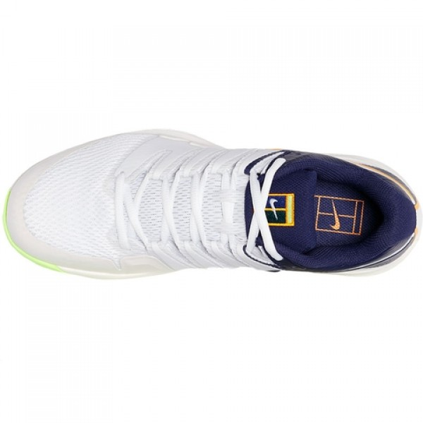 b53bdaac50d56 Tênis Nike Air Zoom Vapor X HC - Branco e Laranja - Oficina do Tenista