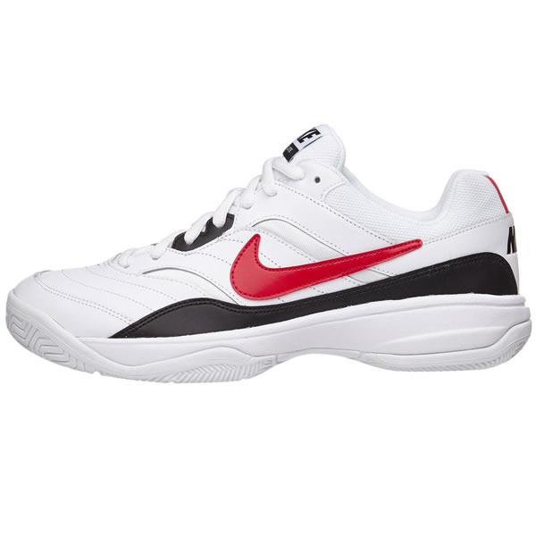 13fb006856 Tênis Nike Court Lite - Branco Preto e Vermelho - Oficina do Tenista