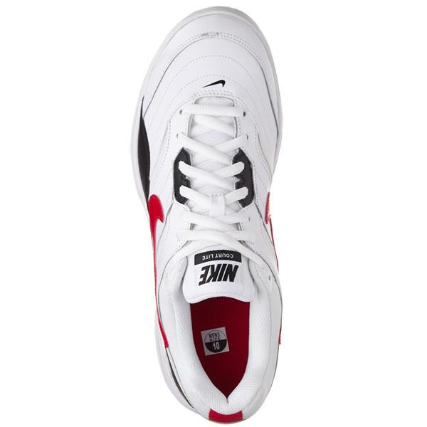 Tênis Nike Court Lite - Branco Preto e Vermelho - Oficina do Tenista 7bb1fceec5003