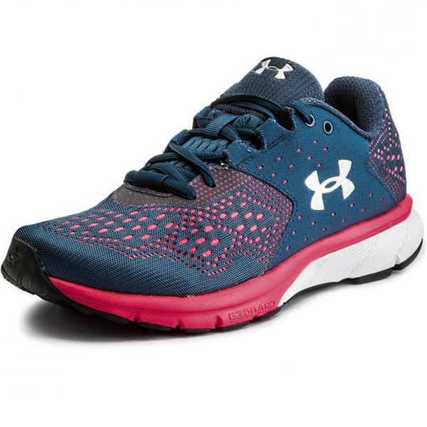 c02a7c7ccd Tênis Under Armour Feminino Charged Rebel SA - Marinho e Rosa ...