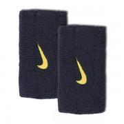 Munhequeira Nike Swoosh Grande Marinho/Ouro - 2Und