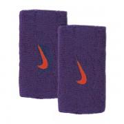 Munhequeira Nike Swoosh Grande Roxo/Vermelho - 2Und