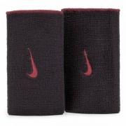 Munhequeira Nike Dri-Fit Dupla Face Preto e Vermelho - 2Und