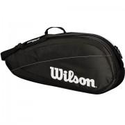 Raqueteira Wilson Federer Team X3 - Preta e Branca