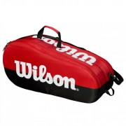 Raqueteira Wilson Team X6 New - Vemelha