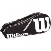 Raqueteira Wilson Advantage II X6 - Preta e Branca