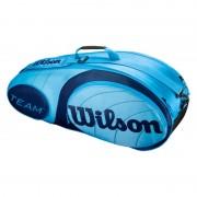 Raqueteira Wilson Team X6 - Azul