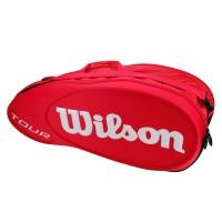 Raqueteira Wilson Esp Tour X6 - Vermelha