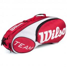 Raqueteira Wilson Team X6 - Vermelha