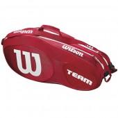 Raqueteira Wilson Esp Team X12- Vermelha