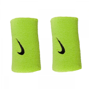Munhequeira Nike Swoosh Grande Limão e Preto - 2Und
