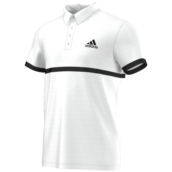 94ee21b4b8 Camisa Polo Adidas Court - Branca e Preta - Oficina do Tenista