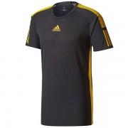 Camiseta Adidas Barricade Tee - Preto e Amarelo