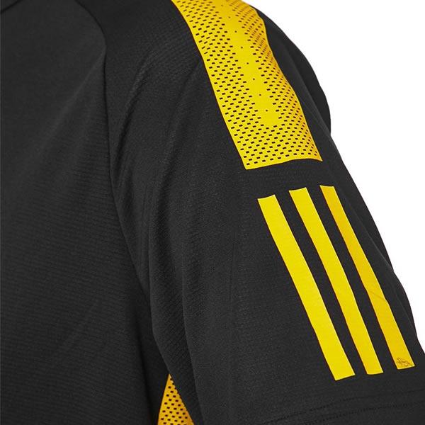 e312d01ab8791 Camiseta Adidas Barricade Tee - Preto e Amarelo - Oficina do Tenista