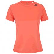 Camiseta Adidas Feminina D2M Loose - Coral