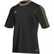Camiseta Adidas Squadra 13 - Preto e dourado