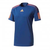 Camiseta Adidas Barricade Tee - Marinho e Laranja