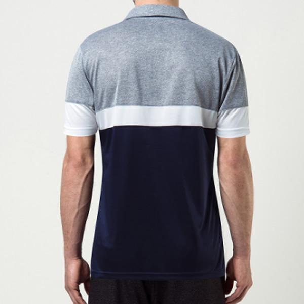 Camisa Polo Fila Block Melange - Azul e Cinza - Oficina do Tenista 470ad9af482ca