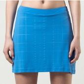 Saia Short Fila Plaids - Azul