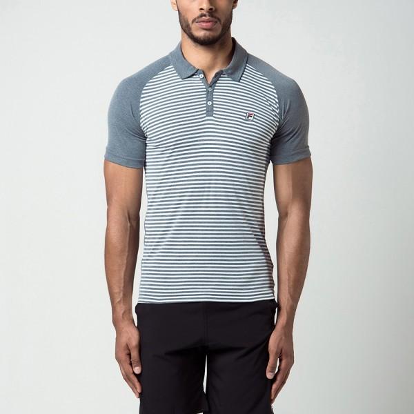 a143d0f4d317e Camisa Polo Fila Wolf II - Cinza e Branca - Oficina do Tenista
