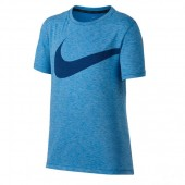 Camiseta Nike Infantil Breath Top - Azul