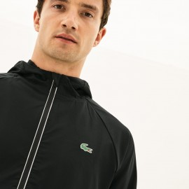 Jaqueta Lacoste Sport Novak Djokovic Off Court Premium - Preta