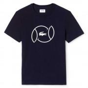 Camiseta Lacoste Sport Bola de Tênis - Marinho